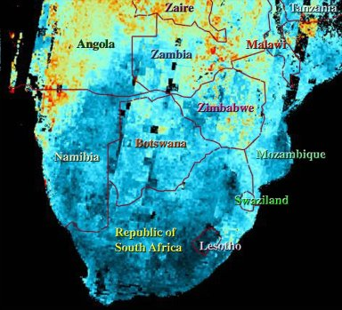 Airborne Particulates over Southern Africa
