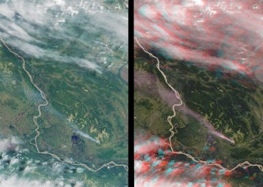 MISR Stereo Imaging Distinguishes Smoke from Cloud
