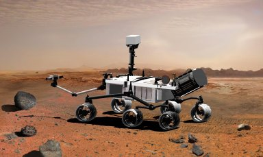 Mars Science Laboratory with Power Source and Extended Arm, Artist's Concept