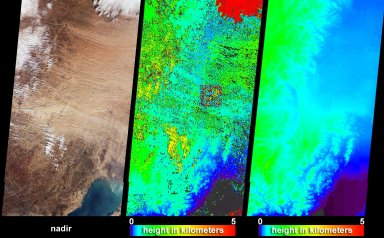 Dust and Sand Sweeps Over Northeast China