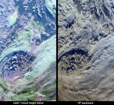 Multi-layer Clouds Over the South Indian Ocean