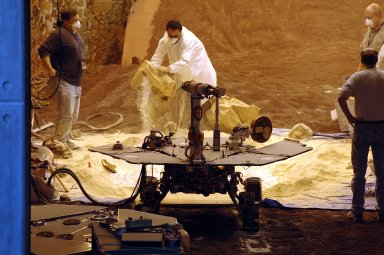 Preparing to Test Rover Mobility