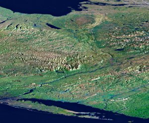 Perspective View, New York State, Long Island to Lake Ontario