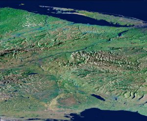 Perspective View, New York State, Lake Ontario to Long Island