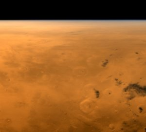 Mars Global Surveyor's View of Gusev Crater During Spirit's Entry, Descent, and Landing