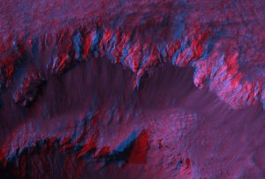 Stereo Anaglyphs of Ada Crater