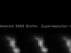 Composite View of Asteroid Braille from Deep Space 1