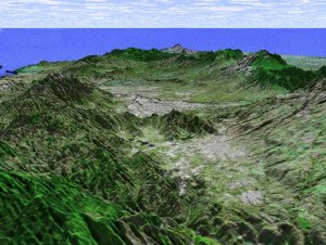 Perspective View with Landsat Overlay, San Jose, Costa Rica