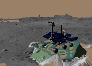 Virtual Rover Takes its First Turn