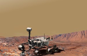 Mars Science Laboratory at Work, Artist's Concept