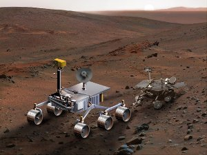 Size Comparison, Mars Science Laboratory and Mars Exploration Rover