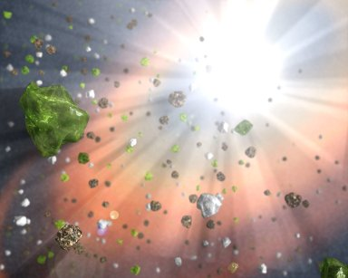 Dust in the Quasar Wind (Artist Concept)