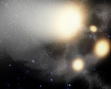Galactic Pile-Up (Artist Concept)