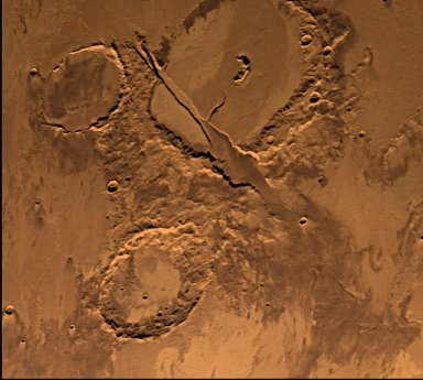 Memnonia Fossae, Approximately Natural Color