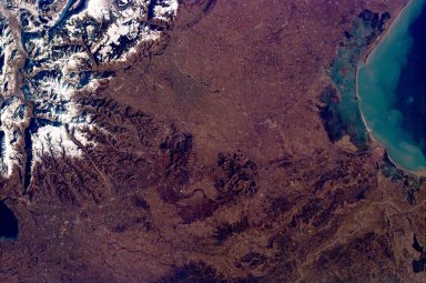 Venice, Italy & the Alps from the Shuttle KidSat Camera