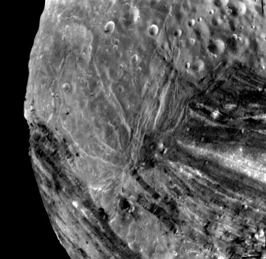 Miranda Fractures, Grooves and Craters