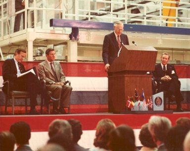 Spacelab Arrival Ceremony at Kennedy Space Center