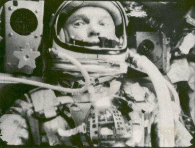 Astronaut John Glenn in a State of Weightlessness During Friendship