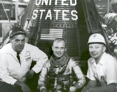 John Glenn With T.J. O'Malley and Paul Donnelly in Front of