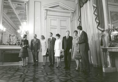 Apollo 11 Astronaust Welcomed to Royal Palace in Brussels, Belgium