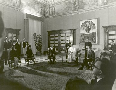 Apollo 11 Astronauts Receive a Papal Audience by Pope Paul VI