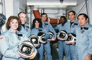 51-L Challenger Crew in White Room
