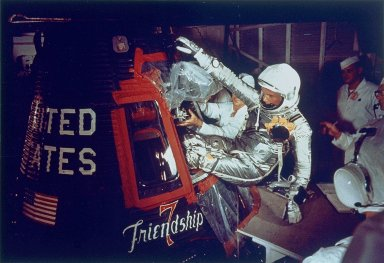 John Glenn Entering Friendship 7