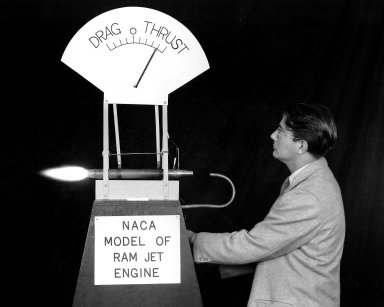 NACA Model of Ramjet with Abe Silverstein
