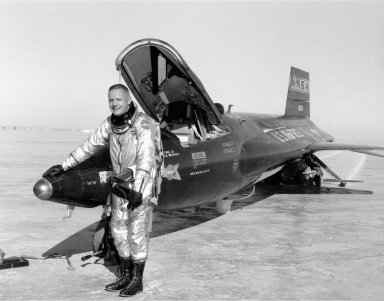 Pilot Neil Armstrong and X-15 #1