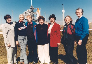 Seven Members of the First Lady Astronaut Trainees in 1995