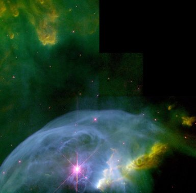 An Expanding Bubble in Space