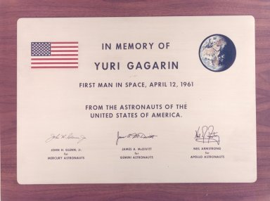 Memorial Plaque for Yuri Gagarin
