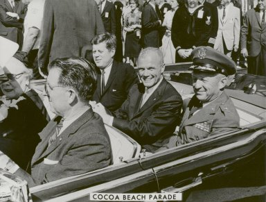 JFK, John Glenn and General Davis in Cocoa Beach Parade