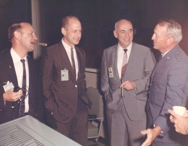Mission Control Celebrates Conclusion of Gemini IX-A Flight