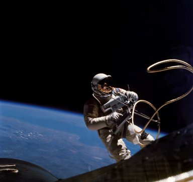Ed White in space