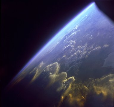 Andes Mountains as seen from Gemini 7