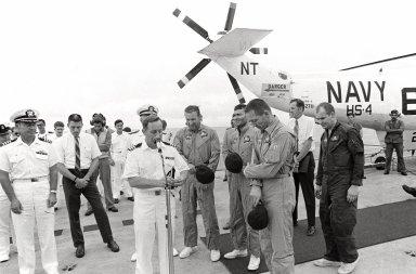Apollo 13 Crew on Deck