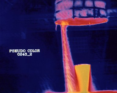 Thermal Image Test of Space Shuttle Main Engine