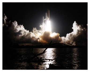 "The Space Shuttle Discovery cuts a bright swath through the early-morning darkness as it lifts off from Launch Pad 39A on a scheduled 10-day flight to service the Hubble Space Telescope (HST). Liftoff of Mission STS-82 occurred on-time at 3:55:17 a.m. EST, Feb. 11, 1997. Leading the veteran crew is Mission Commander Kenneth D. Bowersox. Scott J. ""Doc"" Horowitz is the pilot. Mark C. Lee is the payload commander. Rounding out the seven-member crew are Mission Specialists Steven L. Smith, Gregory J. Harbaugh, Joseph R. ""Joe"" Tanner and Steven A. Hawley. Four of the astronauts will be divided into two teams to perform the scheduled four back-to-back extravehicular activities (EVAs) or spacewalks. Lee and Smith will team up for EVAs 1 and 3 on flight days 4 and 6; Harbaugh and Tanner will perform EVAs 2 and 4 on flight days 5 and 7. Among the tasks will be to replace two outdated scientific instruments with two new instruments the Space Telescope Imaging Spectrograph (STIS) and the Near Infrared Camera and Multi-Object Spectrometer (NICMOS). This is the second servicing mission for HST, which was originally deployed in 1990 and designed to be serviced on-orbit about every three years. Hubble was first serviced in 1993. STS-82 is the second of eight planned flights in 1997. It is the 22nd flight of Discovery and the 82nd Shuttle mission"