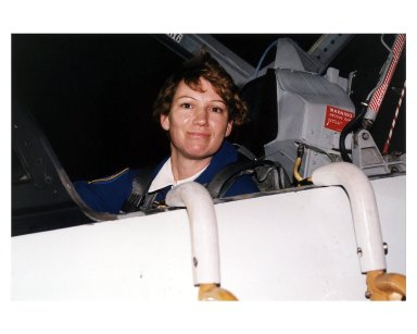 STS-84 Pilot Eileen Marie Collins arrives in a T-38 jet at KSC?s Shuttle Landing Facility. Collins will make her second space flight on STS-84. Her initial flight was as the first woman Shuttle pilot on STS-63 in 1995. STS-84 will be the sixth docking of the Space Shuttle with the Russian Space Station Mir. During the docking, STS-84 Mission Specialist C. Michael Foale will transfer to the Russian space station to become a member of the Mir 23 crew, replacing U.S. astronaut Jerry M. Linenger, who will return to Earth on Atlantis. Foale is scheduled to remain on Mir about four months until his replacement arrives on STS-86 in September