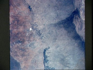 New Mexico and Texas as seen from the Apollo 6 unmanned spacecraft