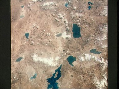 Highlands of Tibet as seen from the Apollo 7 spacecraft