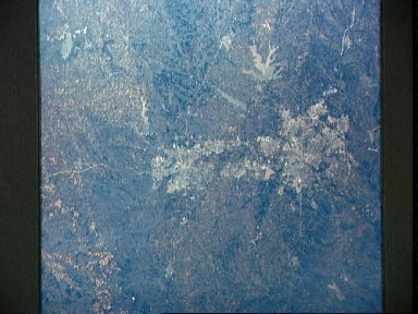 Dallas-Fort Worth, Texas as seen from the Apollo 6 unmanned spacecraft