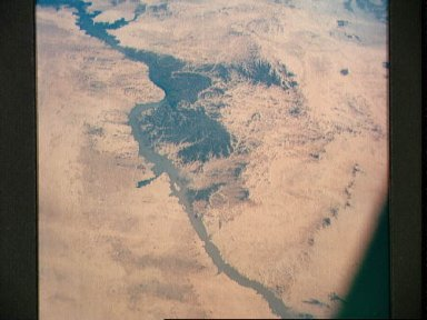 Lake Nasser on Nile River in Egypt as seen from the Apollo 7 spacecraft