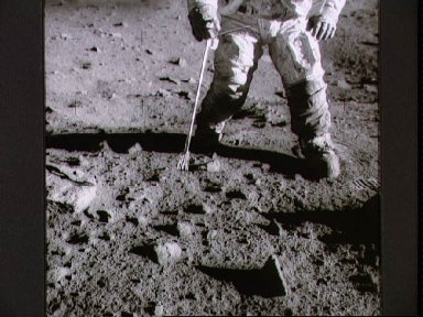 Astronaut Charles Conrad during extravehicular activity on lunar surface
