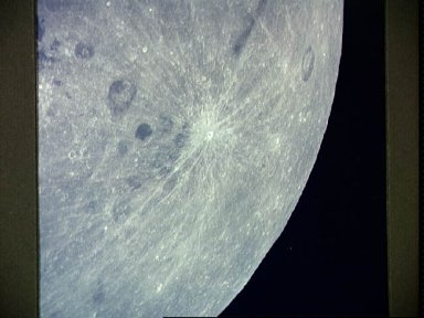 View of the crater on lunar farside from Apollo 13