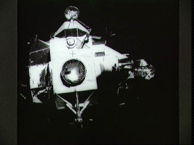 View of Apollo 13 Lunar Module from the Command Module
