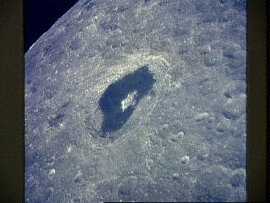 View of the lunar farside showing crater Tsiolkovsky from Apollo 13