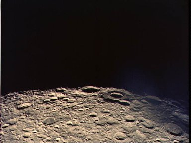 Oblique view of lunar farside photographed from Apollo 13 spacecraft