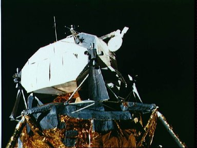 View of the Apollo 16 Lunar Module on the lunar surface